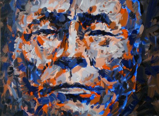 "GEORGE SWORD ""MILA WAKAN"" 1909 / 1991, Acrylic on paper on Aluminum, Size: 69,5 x 51,5 cm, framed"