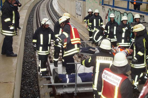 Simulation: Bergung von Verletzten