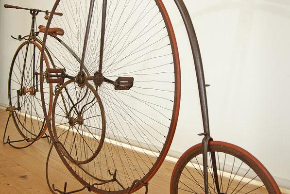 Hochräder, Leihgaben des Deutschen Fahrradmuseums gGmbH, Bad Brückenau