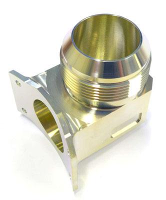 Usinage de précision aluminium par tournage 5 axes et traitement alodine