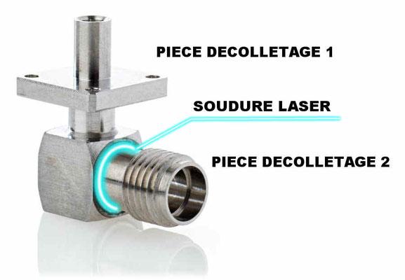 Décolletage de précision inox médical et soudure laser