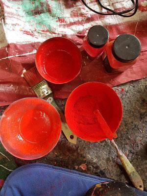 -Eitempera-Pigmente-Ölfarbe-kommt zum Einsatz im Atelier-Marion Haas-Kreative-Momente-