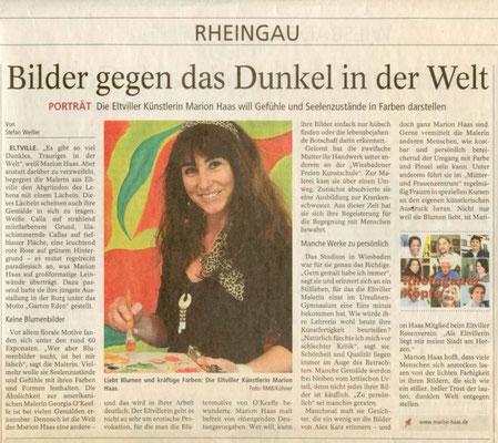 Bilder gegen das Dunkel in der Welt, Wiesbadener Kurier, 2009