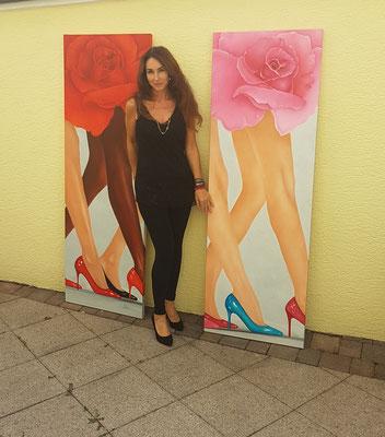-Ölgemälde-Catwalk-von-Marion Haas-Atelier-Eltville-Rheingau-