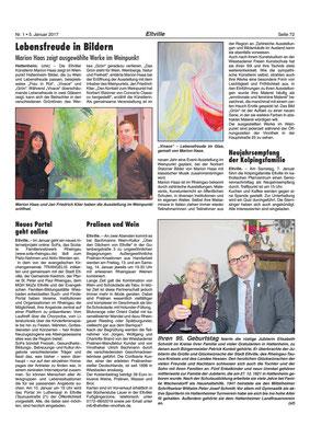 Lebensfreude in Bildern, Eltviller Zeitung, 2017