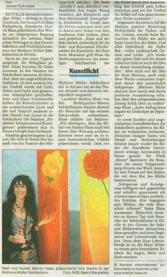Prickelnd-lebendige Bilder, Wiesbadener Tagblatt, 2007