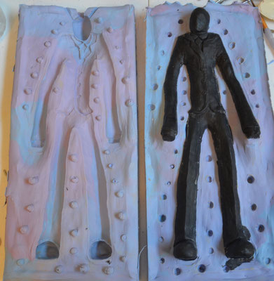 Sculpting Slenderman - Jusmade Handmade Creepy Stuff
