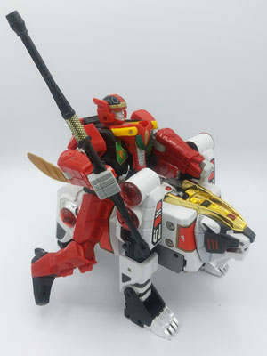 Red Dragon Riding White Tigerzord / RyuseiOh Riding on the Won Tiger