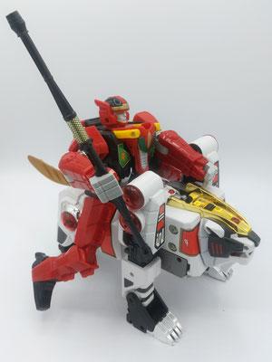 Red Dragon Riding White Tigerzord / RyuseiOh Riding on the Won Tiger