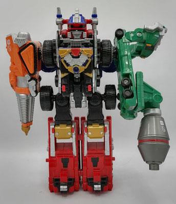 Drivemax Megazord Drill and Mixer Formation / DaiBouken Drill & Mixer