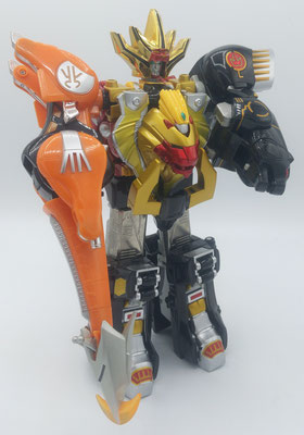 Wild Force Megazord Spear and Knuckle / GaoKing Spear and Knuckle