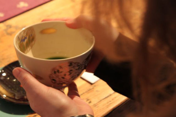 start with a sip of tea and learn about the tea ceremony