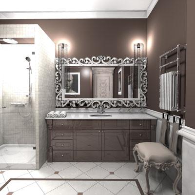 большой умывальник для ванной комнаты на заказ