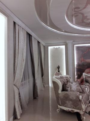 красивые шторы в классическом интерьере