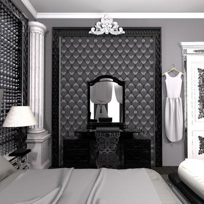 черный глянцевый багет и внутри панель каретная стяжка