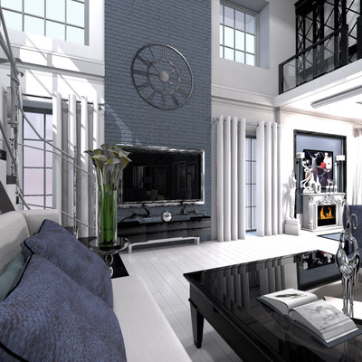 Частный дизайнер интерьера, портфолио, дизайн интерьера загородного дома, стиль современная классика