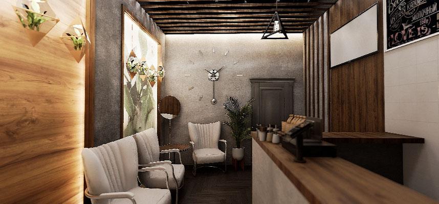 Дизайн интерьера кафе. Дизайн от Анастасии Корябкиной