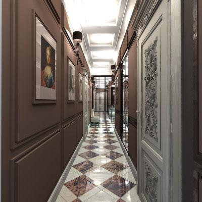 классический стиль в проекте квартире