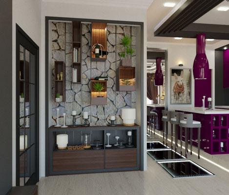 дизайн гостиной лофт
