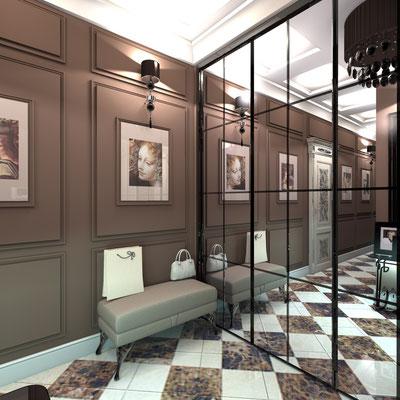 прихожая в дизайне квартиры интерьер