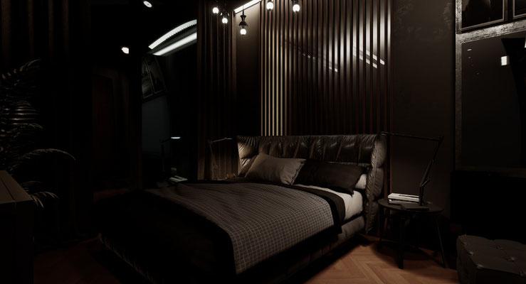 спальня темная
