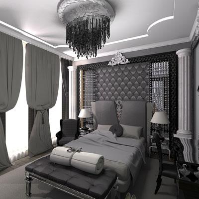 портфолио по классическим спальням в дизайне интерьеров