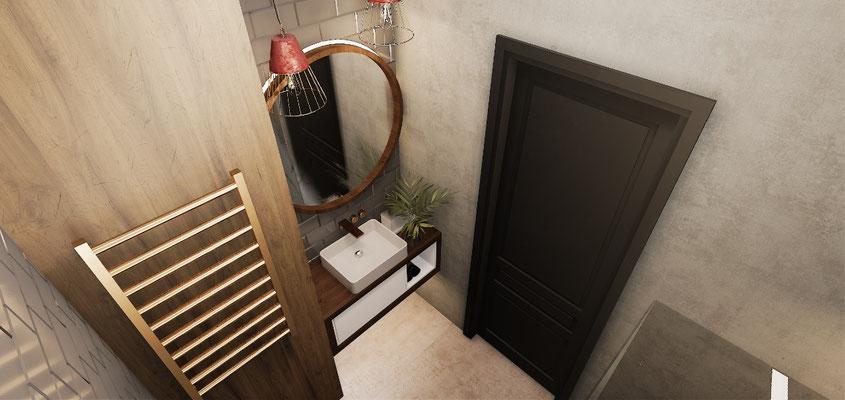 Красивые ванные в стиле лофт