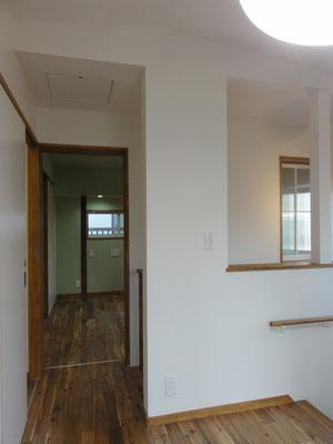 2階リビングから娘室方向