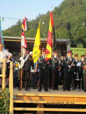 Empfang vom Eidgenössischen Musikfest an der Habstetten Chilbi