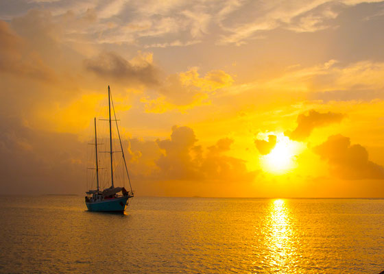 Anke Houdelet:  Sonnenuntergang / Kolumbien