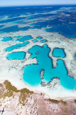 Lagoon Reef formations, Pelsaert Island