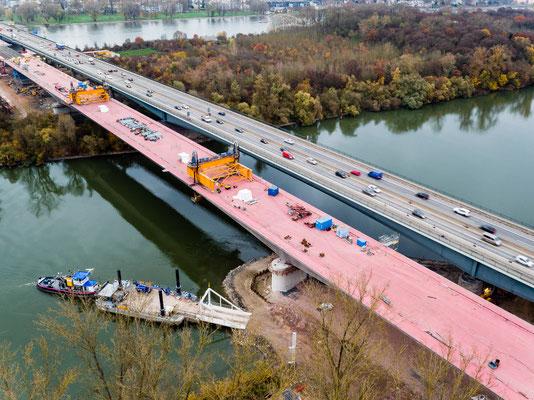 Schiersteiner Brücke, BAB 643 | Kunde: Sarens Group