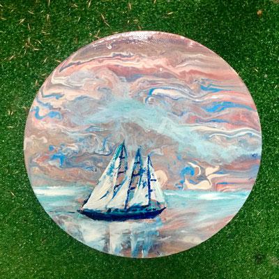 Acryl, diameter 30 cm, 2019, not available