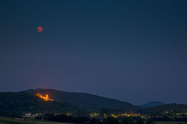 Volkmarsen bei der Mondfinsternis Juli 2018
