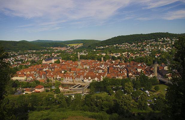 Blick von der Tillyschanze auf die Kernstadt