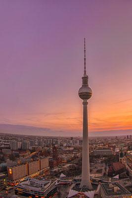 21.02.2017 - Blick auf den Berliner Fernsehturm
