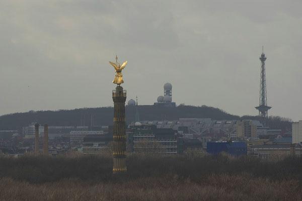 21.02.2017 - Blick auf die Siegessäule und ehm. Abhöranlage der USA