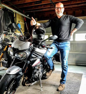 Me in my favorite place, my garage with my bikes