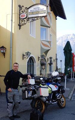"One of our ""base camps"" overseas in many years. A real biker hotel. Iselsberg, Austria. Iselsbergerhof."