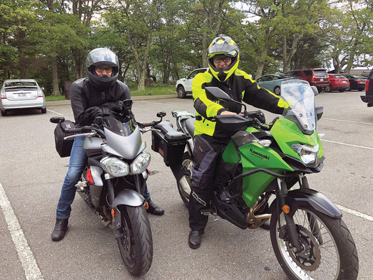 """Ken Myers and I on our annual ride in North Carolina for """"A Little Bit of Everything"""""""
