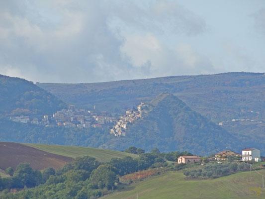 San Fele vista dalla valle della Fiumara di Atella