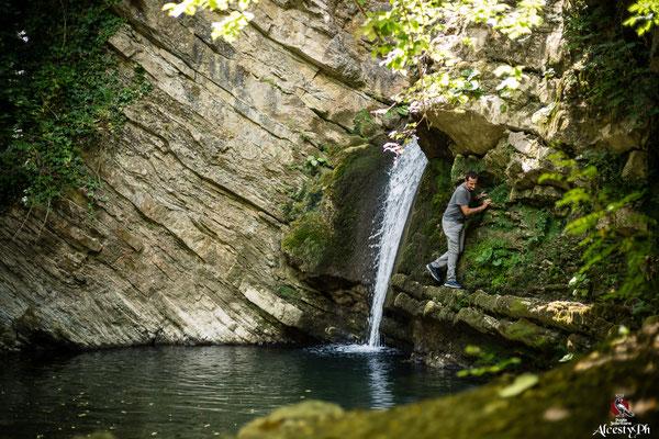 La Cascata degli Innamorati, nome attribuito a seguito della miniserie televisiva sul Brigante Carmine Crocco girata a San Fele