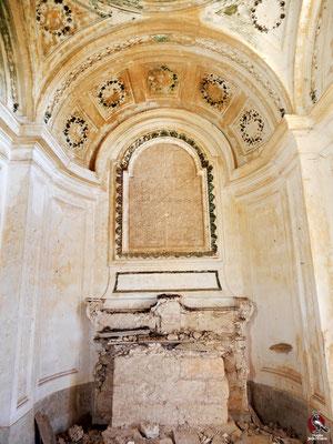 La cappella all'interno di Villa Melodia