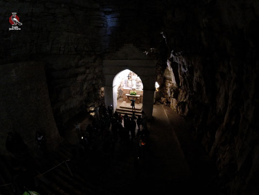 Non si conosce con precisione l'epoca in cui la Grotta, ad imitazione di quella del Gargano e di molte altre nel Sud dell'Italia fu consacrata al culto dell'arcangelo Michele, patrono della città di Minervino