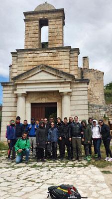 La chiesetta ingresso per la Grotta di San Michele Luogo di preghiera per i pellegrini del culto Micaelico