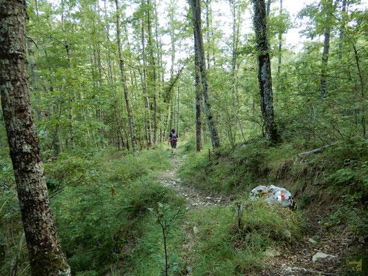 Il sentiero M2, fiancheggiato dal Monte Castelnuovo e Monte Marrone, conduce al paesino di Castelnuovo al Volturno