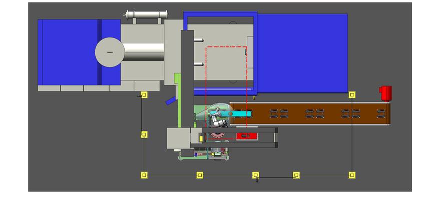 progettazione isola con robot