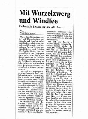 Wormser Tageblatt November 2005, Artikel von Vera Konersmann