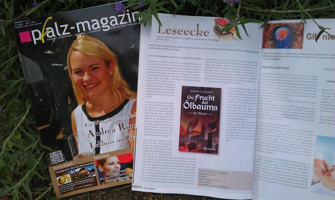 Pfalz-Magazin Nr. 21, Oktober 2013, Artikel von Jennifer Malchow