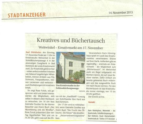Stadtanzeiger Bad Dürkheim, 14.11.2013